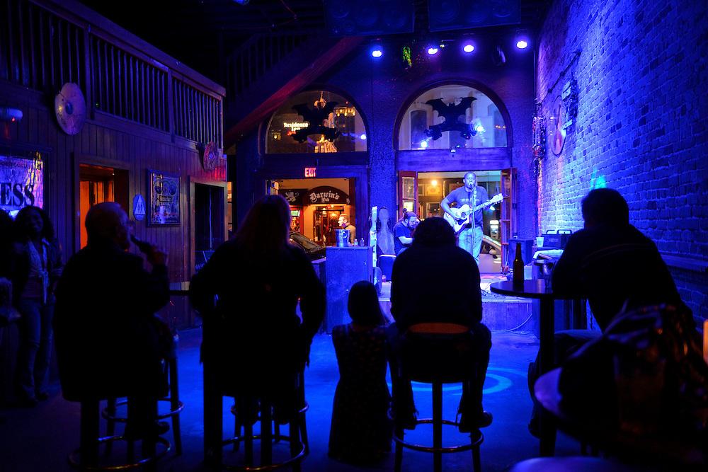 Music Club,6th Street at night,City of Austin,Texas,USA