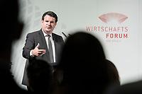 """12 NOV 2018, BERLIN/GERMANY:<br /> Hubertus Heil, SPD, Bundesarbeitsminister, SPD Wirtschaftsforum, Veranstaltung """"Wie weiter auf dem Weg in die digitale Arbeitswelt?"""", Allianz Forum, Pariser Platz<br /> IMAGE: 20181112-01-050"""