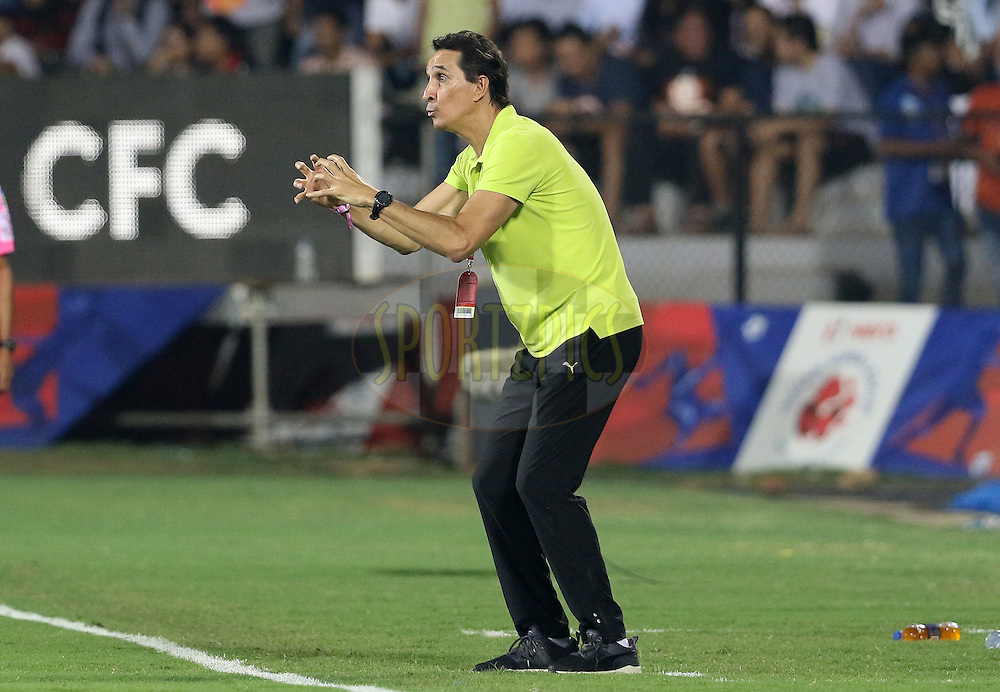 Mumbai City FC coach Alexandre Guimaraes during match 46 of the Indian Super League (ISL) season 3 between Mumbai City FC and Chennaiyin FC held at the Mumbai Football Arena in Mumbai, India on the 23rd November 2016.<br /> <br /> Photo by Vipin Pawar / ISL / SPORTZPICS