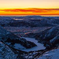 Bergen and Isdalen from vidden