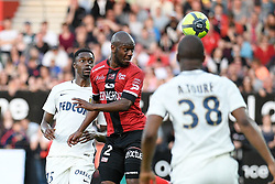 April 21, 2018 - Guingamp, France - 15 ADAMA DIAKHABY (ASM) - 02 JORDAN IKOKO  (Credit Image: © Panoramic via ZUMA Press)