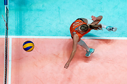 28-05-2019 NED: Volleyball Nations League Netherlands - Brazil, Apeldoorn<br /> <br /> Nicole Oude Luttikhuis #17 of Netherlands