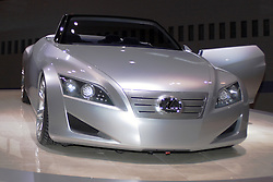 06 February 2005:   Lexus LF-C concept car.  a high-output V8-powered luxury sports coupe concept that was created with a more passionate design direction, similar to the new GS. The LF-C combines performance, versatility and innovative luxury in a sleek package.<br /> <br /> First staged in 1901, the Chicago Auto Show is the largest auto show in North America and has been held more times than any other auto exposition on the continent.  It has been  presented by the Chicago Automobile Trade Association (CATA) since 1935.  It is held at McCormick Place, Chicago Illinois