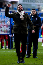 Bristol City Head Coach Lee Johnson celebrates beating Cardiff City - Mandatory by-line: Robbie Stephenson/JMP - 10/11/2019 -  FOOTBALL - Cardiff City Stadium - Cardiff, Wales -  Cardiff City v Bristol City - Sky Bet Championship