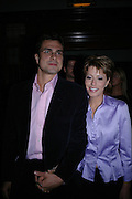 Natasha Kaplinsky and Justin Bower. Billy Elliot- The Musical opening night at the Victoria palace theatre and party afterwards at Pacha, London. 12 May 2005. ONE TIME USE ONLY - DO NOT ARCHIVE  © Copyright Photograph by Dafydd Jones 66 Stockwell Park Rd. London SW9 0DA Tel 020 7733 0108 www.dafjones.com
