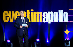 © Licensed to London News Pictures 06/09/2013<br /> Klaus-Peter Schulenberg, CEO, CTS Eventim, opens the newly renovated  1930s Hammersmith Apollo, now renamed, the Eventin Apollo. <br /> The 1932 Art Deco building was designed by renowned theatre architect Robert Cromieand has been the venue for artists like David Bowie's Ziggy Stardust, Bruce Springsteen, The Rolling Stones, Bob Marley, Ella Fitzgerald and Duke Ellington. <br /> The Eventim Apollo will open to the public on 7th September with a sold-out show for Selena Gomez.