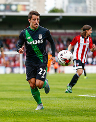 Bojan Krkic of Stoke City on the attack - Mandatory by-line: Jason Brown/JMP - Mobile 07966 386802 25/07/2015 - SPORT - FOOTBALL - Brentford, Griffin Park - Brentford v Stoke City - Pre-Season Friendly