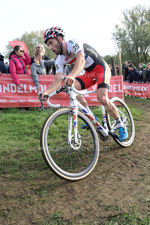 Belgium, November 1 2017:  GB champion, Ian Field, Hargroves Cycles Race Team, finished in 15th place in the 2017 edition of the Koppenbergcross.  Copyright 2017 Peter Horrell.