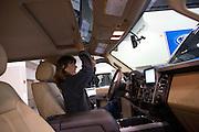 Donna Simonis, Oak Creek looks over the Ford truck