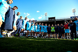 Worcester Warriors huddle after victory over Leicester Tigers - Mandatory by-line: Robbie Stephenson/JMP - 23/09/2018 - RUGBY - Welford Road Stadium - Leicester, England - Leicester Tigers v Worcester Warriors - Gallagher Premiership
