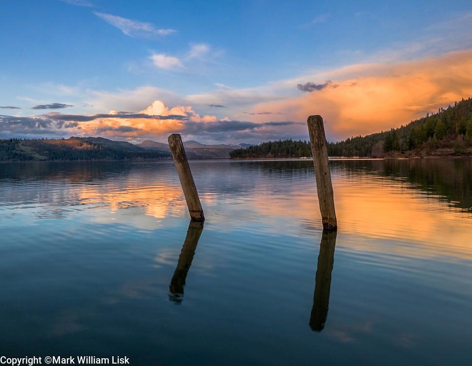 Sunset over Rocky Point, Heyburn State Park, Idaho.