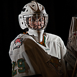 COBOURG, ON - Oct 31 : Nathan Perry #29 of the Cobourg Cougars,.(Photo by Dave Powers / OJHL Images)