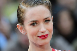 Emily Blunt attending the UK premiere of Sicario, at the Empire Cinema in Leicester Square, London.