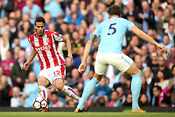 Ramadan Sobhi of Stoke City and John Stones of Manchester City - Mandatory by-line: Matt McNulty/JMP - 14/10/2017 - FOOTBALL - Etihad Stadium - Manchester, England - Manchester City v Stoke City - Premier League