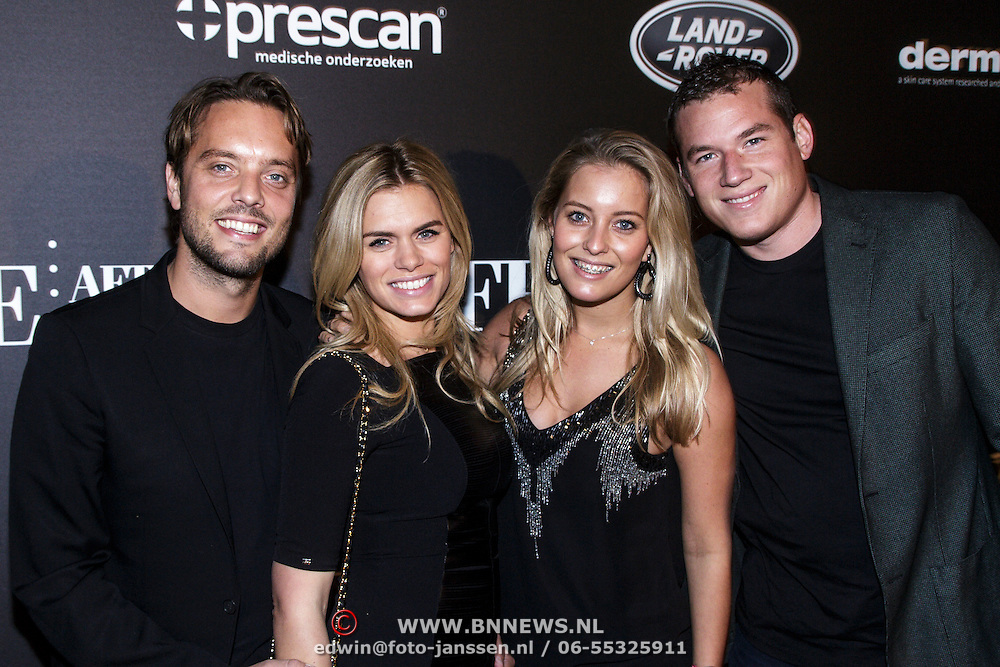 NLD/Amsterdam/20141115 - Life After Football fair 2014, Nicolette van Dam en partner Bas Smit, ..................