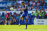Cardiff City's Sean Morrison  during the Sky Bet Championship match between Cardiff City and Fulham at the Cardiff City Stadium, Cardiff, Wales on 8 August 2015. Photo by Shane Healey.