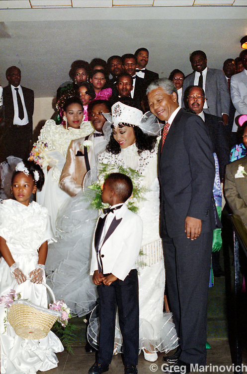 Johannesburg, South Africa, 1992. Nelson Mandela at his daughter Zinzi Mandela's wedding 24/5 October 1992