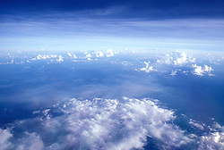 A variety of clouds as seen from high altitude.