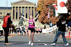 Irina Mashkantceva, 29, of Solikamsk, Russia broke the women's Philadelphia Marathon record at 2:35:34. .