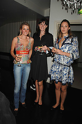 Left to right, COUNTESS SOPHIE GRAFIN VON MONTGELAS, LADY LAURA CATHCART and MIMA LOPES at a party to launch the new upstairs area of Mamilanji, 107 Kings Road, London SW3 on 19th April 2007.<br />