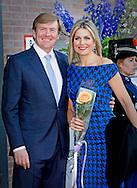 14-4-2015 - DORDRECHT - Koning Willem-Alexander, Koningin Máxima en Hare Koninklijke Hoogheid Prinses Beatrix zijn dinsdagavond 14 april 2015 aanwezig bij het Koningsdagconcert in het Energiehuis in Dordrecht. COPYRIGHT ROBIN UTRECHT