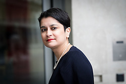 © Licensed to London News Pictures. 26/02/2017. LONDON, UK.  Baroness Shami Chakrabarti arrives at BBC Broadcasting House to appear on The Andrew Marr show.  Photo credit: Vickie Flores/LNP