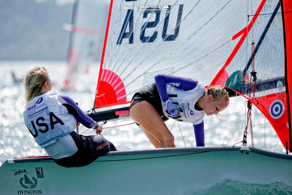 United States29erWomenCrewUSAET35LizaToppa<br />United States29erWomenHelmUSAAT40AlieToppa<br />Day1, 2015 Youth Sailing World Championships,<br />Langkawi, Malaysia