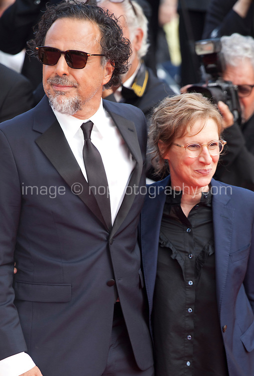 Alejandro Gonzalez Inarritu and Kelly Reichardt at the closing ceremony and The Specials film gala screening at the 72nd Cannes Film Festival Saturday 25th May 2019, Cannes, France. Photo credit: Doreen Kennedy
