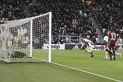 May 3, 2019 - Turin, Piedmont, Italy - Cristiano Ronaldo (Juventus FC) scores during the Serie A football match between Juventus FC and Torino FC at Allianz Stadium on May 03, 2019 in Turin, Italy..Final results: 1-1. (Credit Image: © Massimiliano Ferraro/NurPhoto via ZUMA Press)