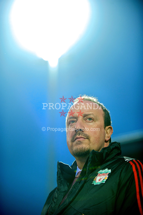 LILLE, FRANCE - Thursday, March 11, 2010: Liverpool's manager Rafael Benitez before the UEFA Europa League Round of 16 1st Leg match against LOSC Lille Metropoleat the Stadium Lille-Metropole. (Photo by David Rawcliffe/Propaganda)