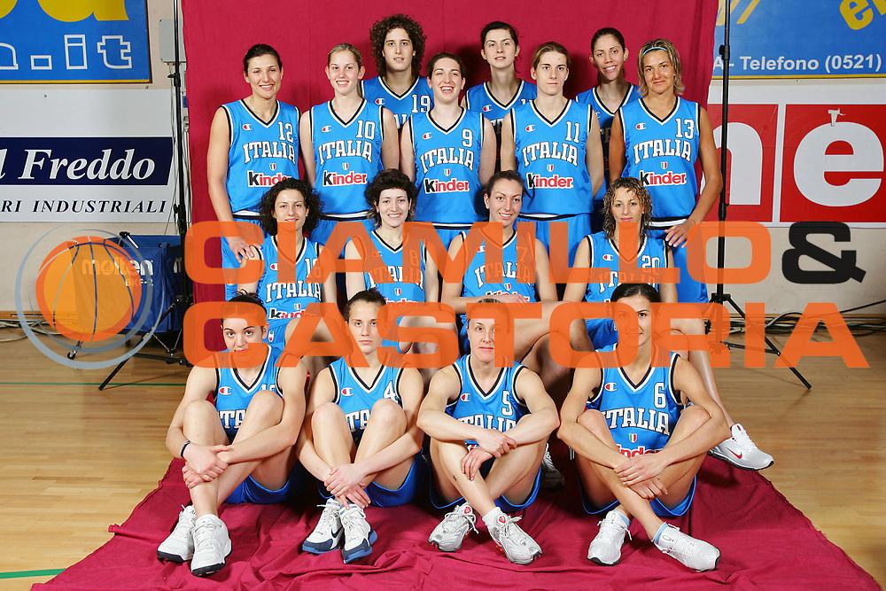 DESCRIZIONE : Parma Lega A1 Femminile 2005-06 All Star Game <br /> GIOCATORE : Team Nazionale Italiana Femminile <br /> SQUADRA : Nazionale Italiana Femminile <br /> EVENTO : Campionato Lega A1 Femminile 2005-2006 All Star Game <br /> GARA : Nazionale Italiana Femminile Selezione Straniere <br /> DATA : 07/04/2006 <br /> CATEGORIA : Ritratto <br /> SPORT : Pallacanestro <br /> AUTORE : Agenzia Ciamillo-Castoria/S.Silvestri