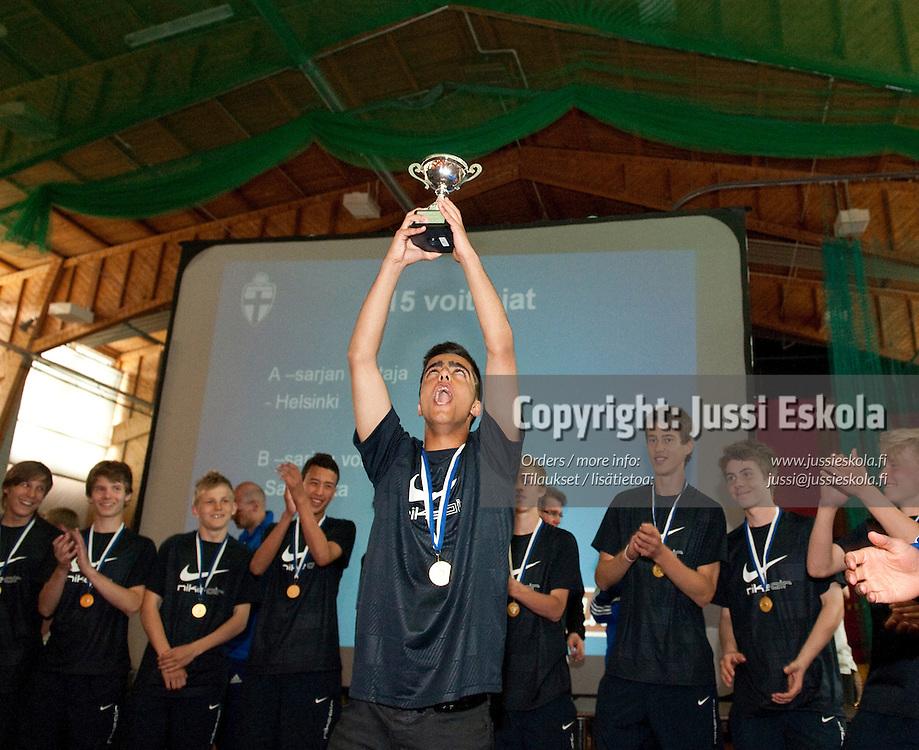 Pojat C15 mestarijoukkue Helsinki. Piirijoukkue-Cup. Pajulahti. 20.6.2010. Photo: Jussi Eskola