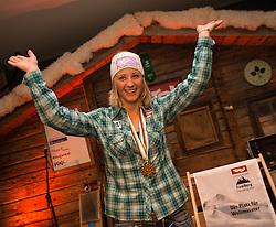 16.02.2013, Tirolberg, Schladming, AUT, FIS Weltmeisterschaften Ski Alpin, Tirolberg Friends Night, im Bild Michaela Kirchgasser (AUT) // at the Tirolberg Friends Night during FIS Ski World Championships 2013 at the Tirolberg, Schladming, Austria on 2013/02/16. EXPA Pictures © 2013, PhotoCredit: EXPA/ Johann Groder