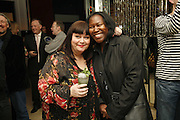 Dawn French and Joan Armatrading, First night party for Smaller  at Floridita, 100 Wardour Street W1 on Tuesday 4 AprilONE TIME USE ONLY - DO NOT ARCHIVE  © Copyright Photograph by Dafydd Jones 66 Stockwell Park Rd. London SW9 0DA Tel 020 7733 0108 www.dafjones.com