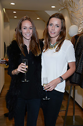 Left to right, EVEIE LONGDON and CHLOE STREET at a preview evening of the Leon Max Autumn Winter Collection 2013 held at Leon Max, 229 Westbourne Grove, London W11 on 24th September 2013.