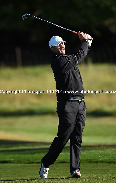 Nathan Astle during round one of the 2015 BMW New Zealand Golf Open, Millbrook Resort, Arrowtown, New Zealand Thursday 12 March 2015. Copyright Photo: Andrew Cornaga / www.photosport.co.nz