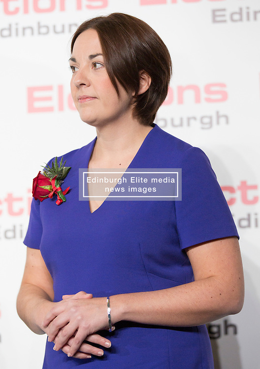 Scottish Parliament Election 2016 Royal Highland Centre Ingliston Edinburgh 05 May 2016; Kezia Dugdale (Scottish Labour Party leader) puts on a brave face as she loses her seat during the Scottish Parliament Election 2016, Royal Highland Centre, Ingliston Edinburgh.<br /> <br /> (c) Chris McCluskie | Edinburgh Elite media
