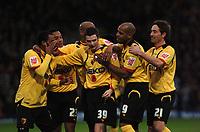 Photo: Tony Oudot/Sportsbeat Images.<br /> Watford v Colchester United. Coca Cola Championship. 10/11/2007.<br /> Adam Johnson of Watford celebrates his goal