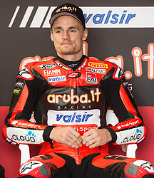 February 25, 2018 - Melbourne, Victoria, Australia - British rider Chaz Davies (#7) of Aruba.it Racing - Ducati  in his garage before the morning warm up session on day 3 of the opening round of the 2018 World Superbike season at the Phillip Island circuit in Phillip Island, Australia. (Credit Image: © Theo Karanikos via ZUMA Wire)