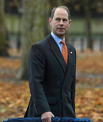 © Licensed to London News Pictures. 26/11/2019. Windsor, UK. PRINCE EDWARD The Earl of Wessex, brother of Prince Andrew The Duke of York, is seen leaving Buckingham Palace in London. A number of financial backers for the Duke of Yorks's charities and businesses withdrew their support following reaction to an interview on Prince Andrew's relationship with American financier Jeffrey Epstein. Photo credit: Ben Cawthra/LNP