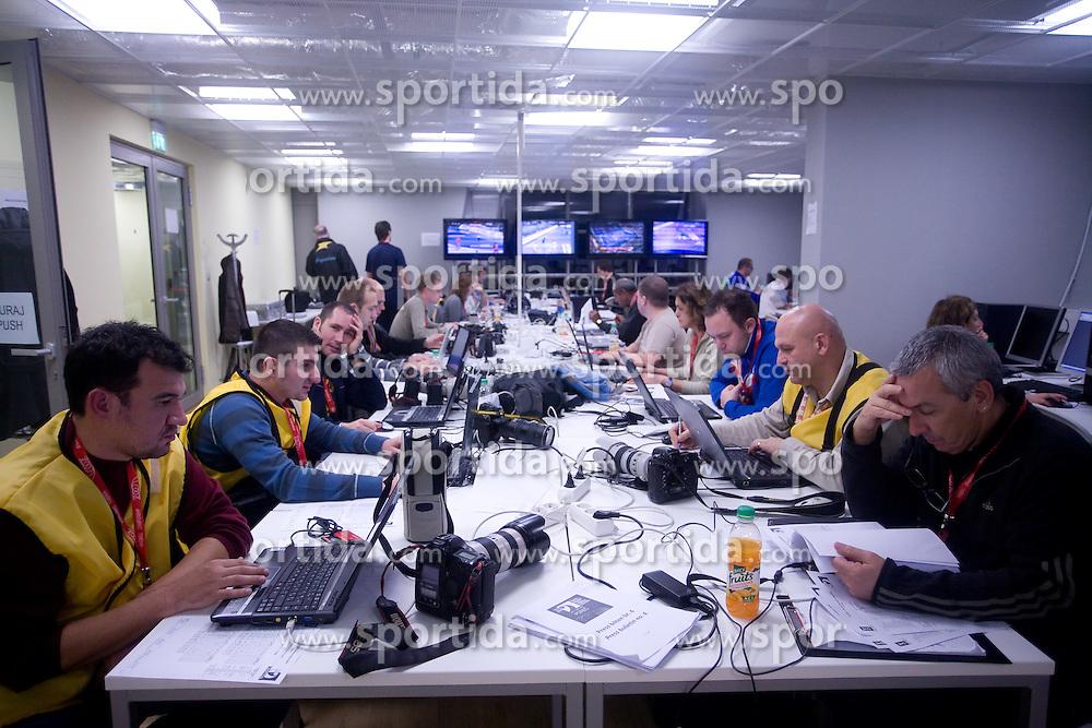 Journalists and photographers in press center during 21st Men's World Handball Championship, on January 19, 2009, in Arena Zatika, Porec, Croatia. (Photo by Vid Ponikvar / Sportida)