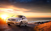 CGI Mercedes B-class with background plate