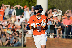Virginia attackman Danny Glading (9) in action against Duke.  The #3 ranked Virginia Cavaliers fell to the #2 ranked Duke Blue Devils 19-9 at the University of Virginia's Klockner Stadium in Charlottesville, VA on April 12, 2008.