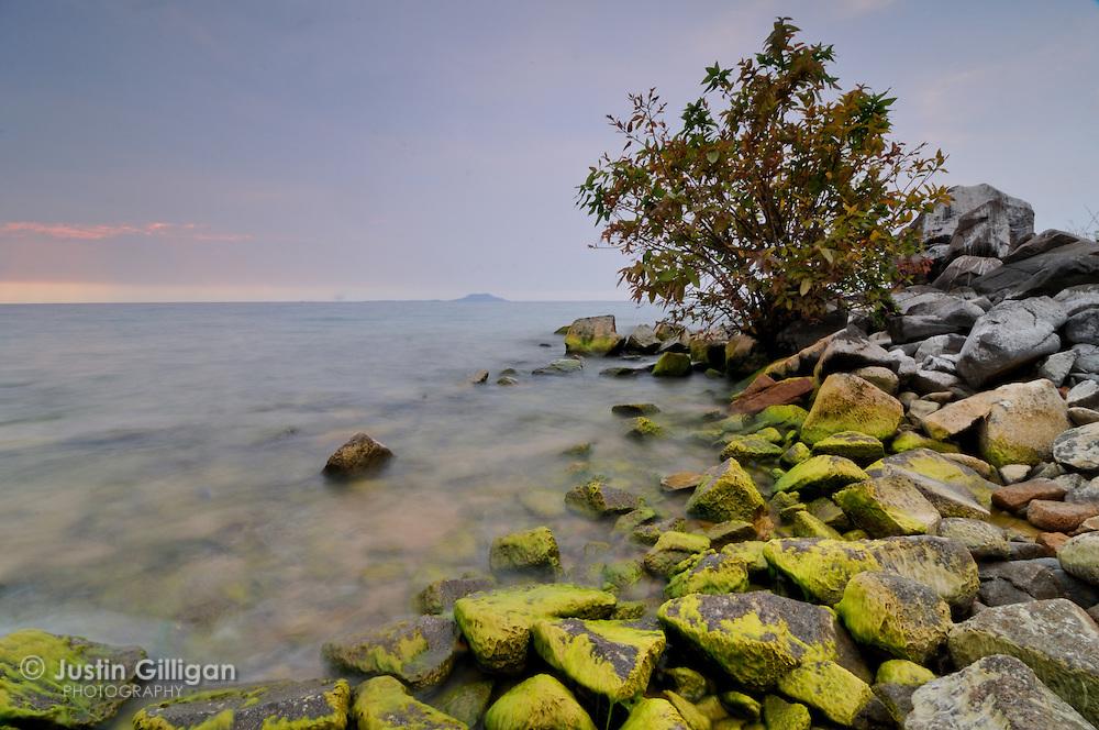 Dramatic landscape of Lake Malawi shore at Likoma Island, Lake Malawi, Malawi.