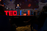 Claire Wardle speaks at TED2019: Bigger Than Us. April 15 - 19, 2019, Vancouver, BC, Canada. Photo: Bret Hartman / TED