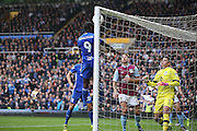 Birmingham City  forward Clayton Donaldson (9)  with a header he thinks goes over the line during the EFL Sky Bet Championship match between Birmingham City and Aston Villa at St Andrews, Birmingham, England on 30 October 2016. Photo by Simon Davies.