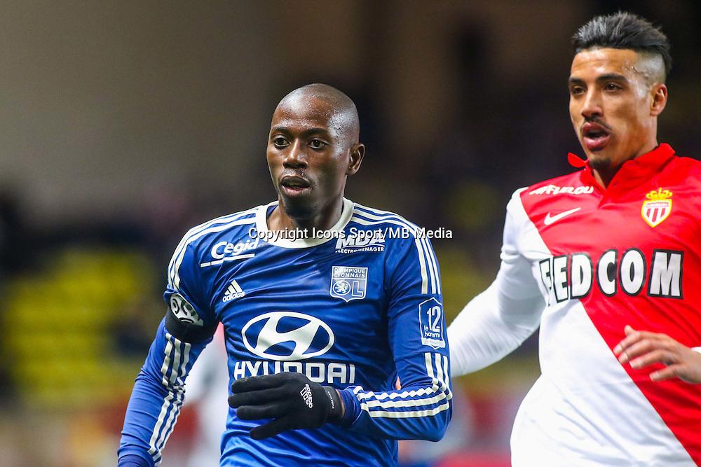 Mouhamadou DABO / Nabil DIRAR  - 01.02.2015 - Monaco / Lyon - 23eme journee de Ligue 1 -<br /> Photo : Serge Haouzi / Icon Sport
