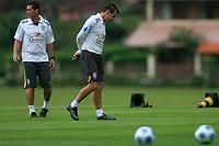 20090325: TERESOPOLIS, BRAZIL – Brazil National Team preparing match against Equador, at Teresopolis training center. In picture: Dunga (coach, R) and Jorginho (assistant coach). PHOTO: CITYFILES