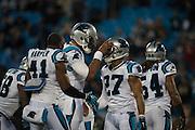 January 24, 2016: Carolina Panthers vs Arizona Cardinals. Cam Newton, Robert McClain
