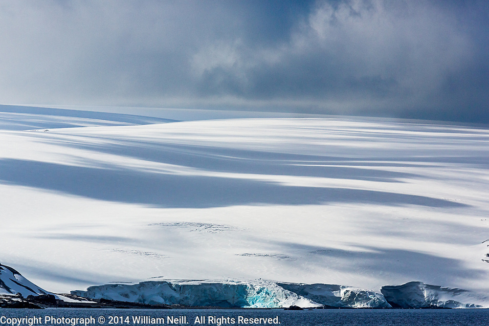 Glacier and Cloud Shadows, Bransfield Strait, Antarctica 2014